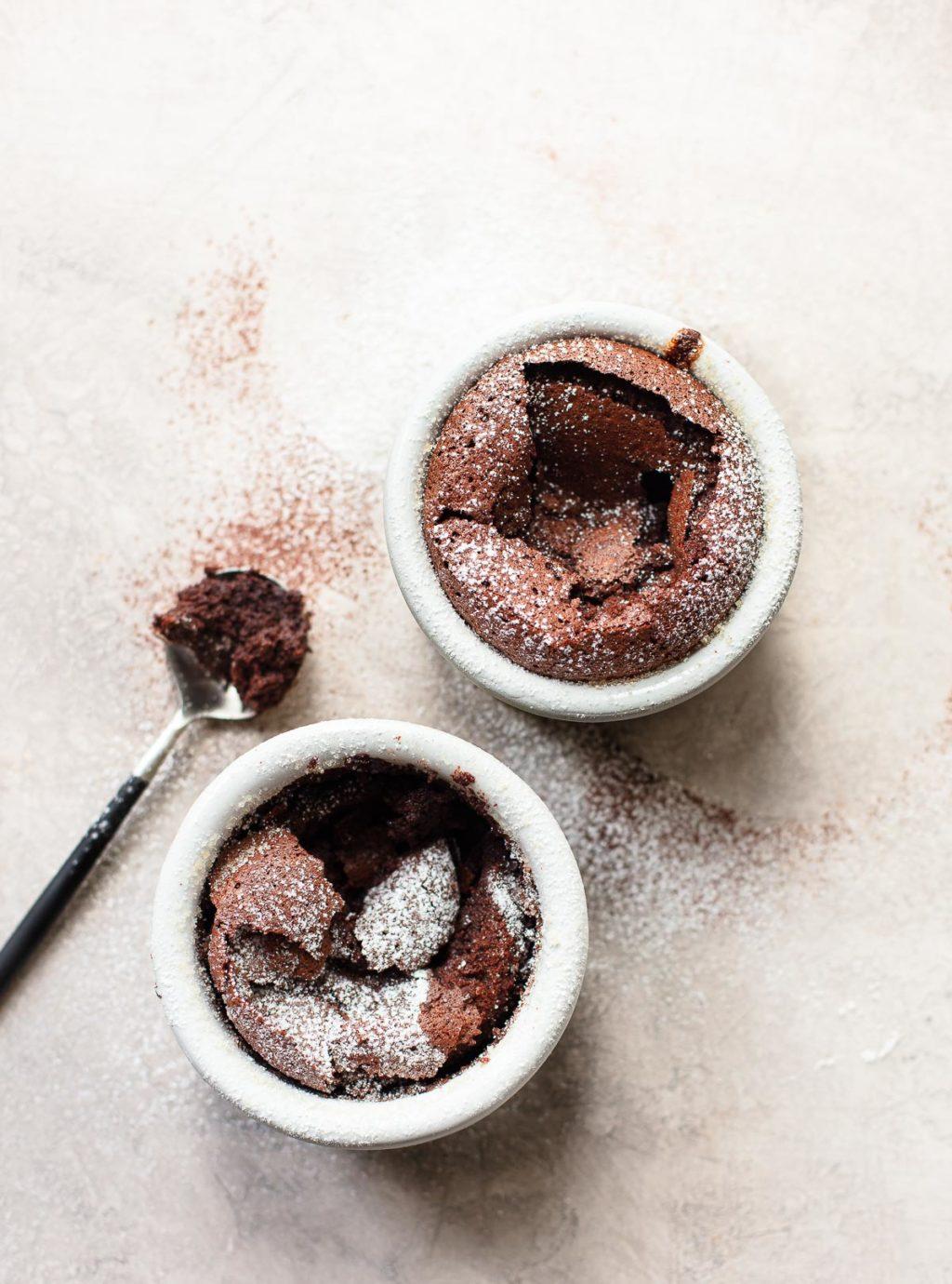 Warm Chocolate Souffle Cake