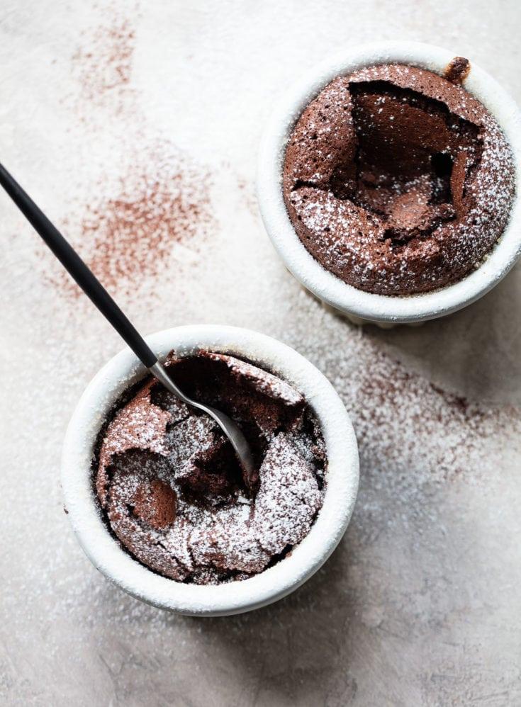 Fallen Chocolate Soufflé Cake