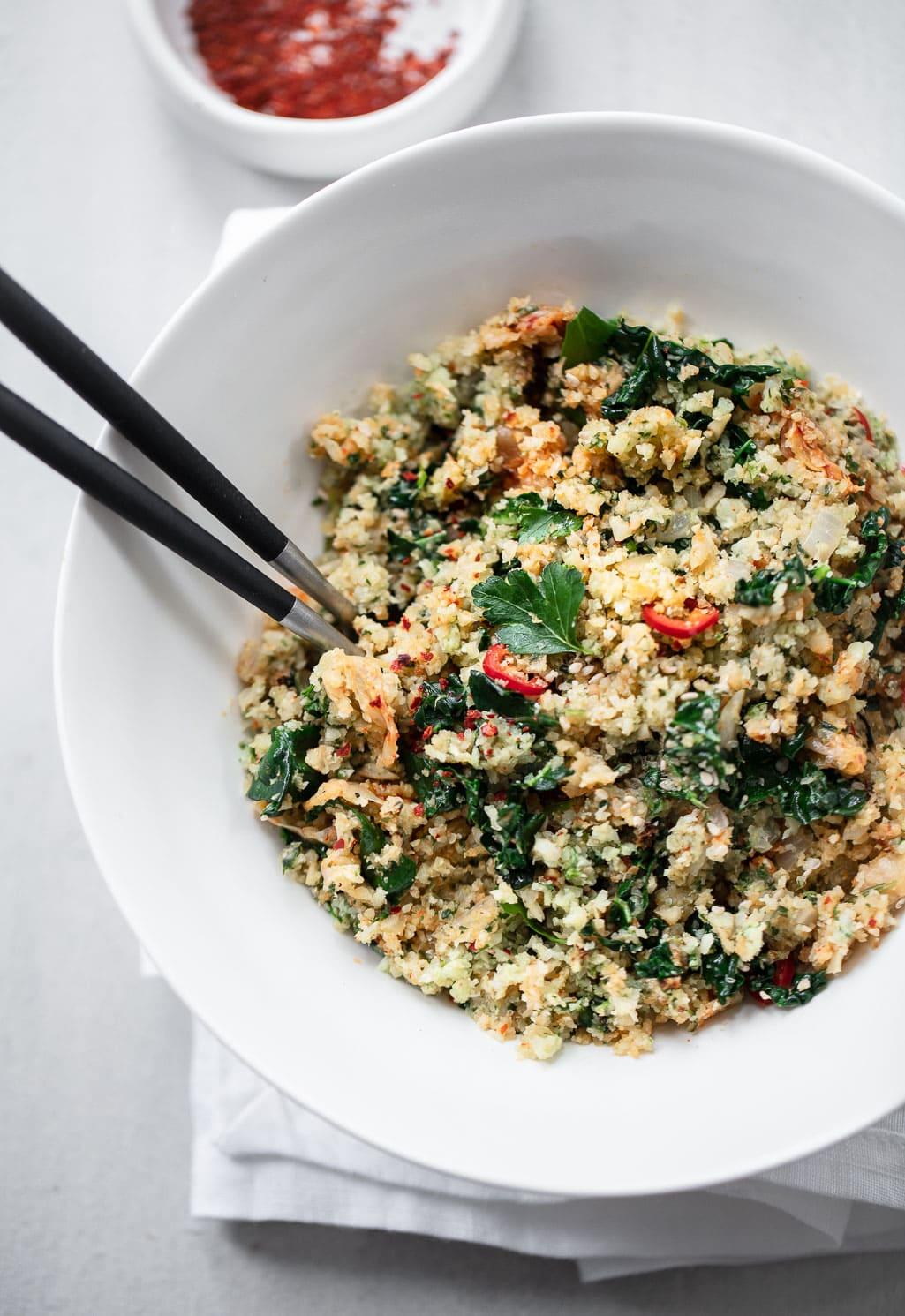 Kimchi Fried Cauliflower Rice