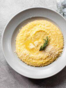Creamy Polenta with Parmesan Cheese