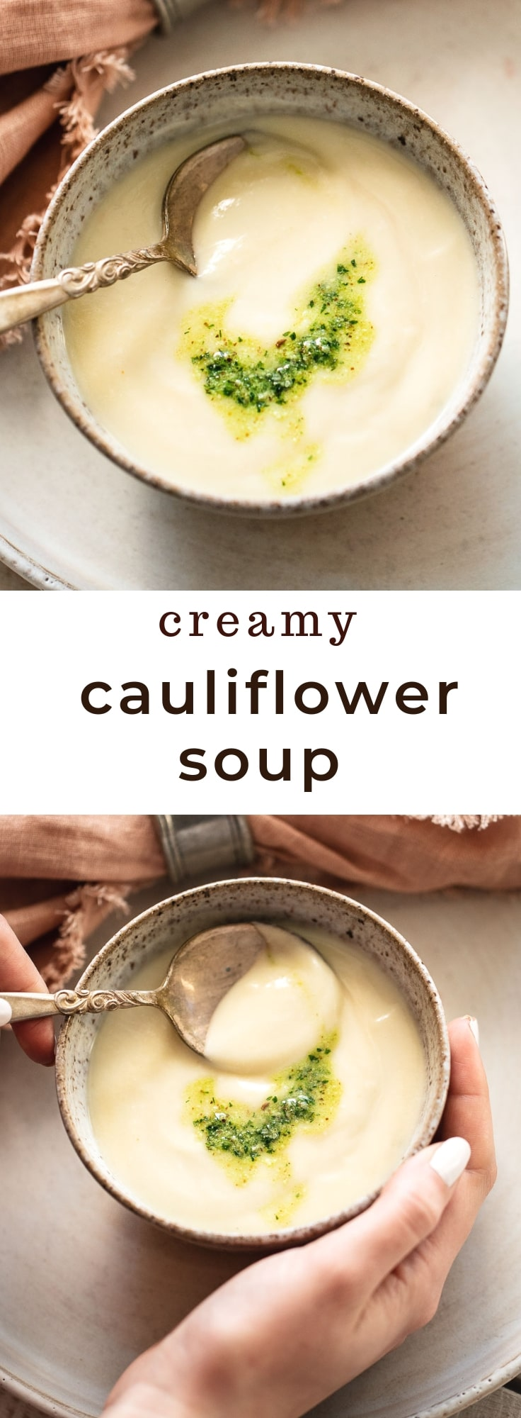 Easy Cream of Cauliflower Soup with Parmesan (Keto-Low Carb)