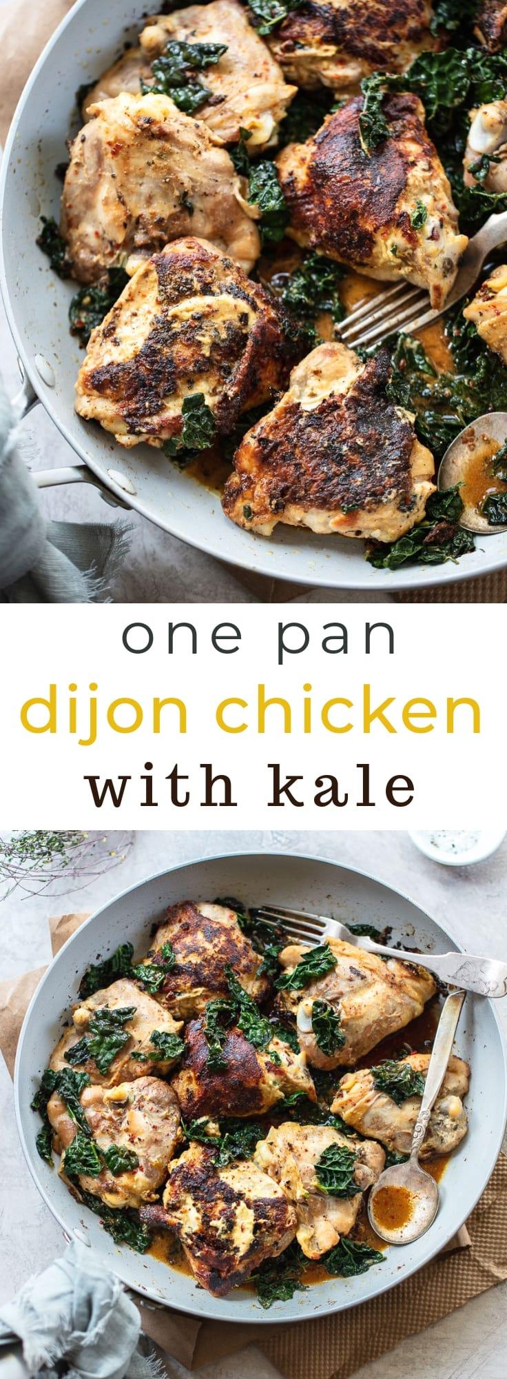 Skillet Dijon Chicken with Kale