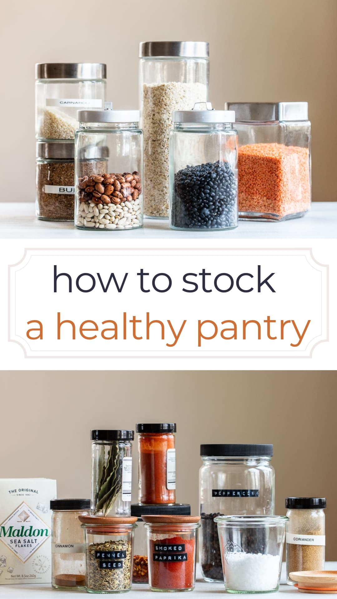 How to Stock a Basic Healthy Pantry (Printable Checklist)