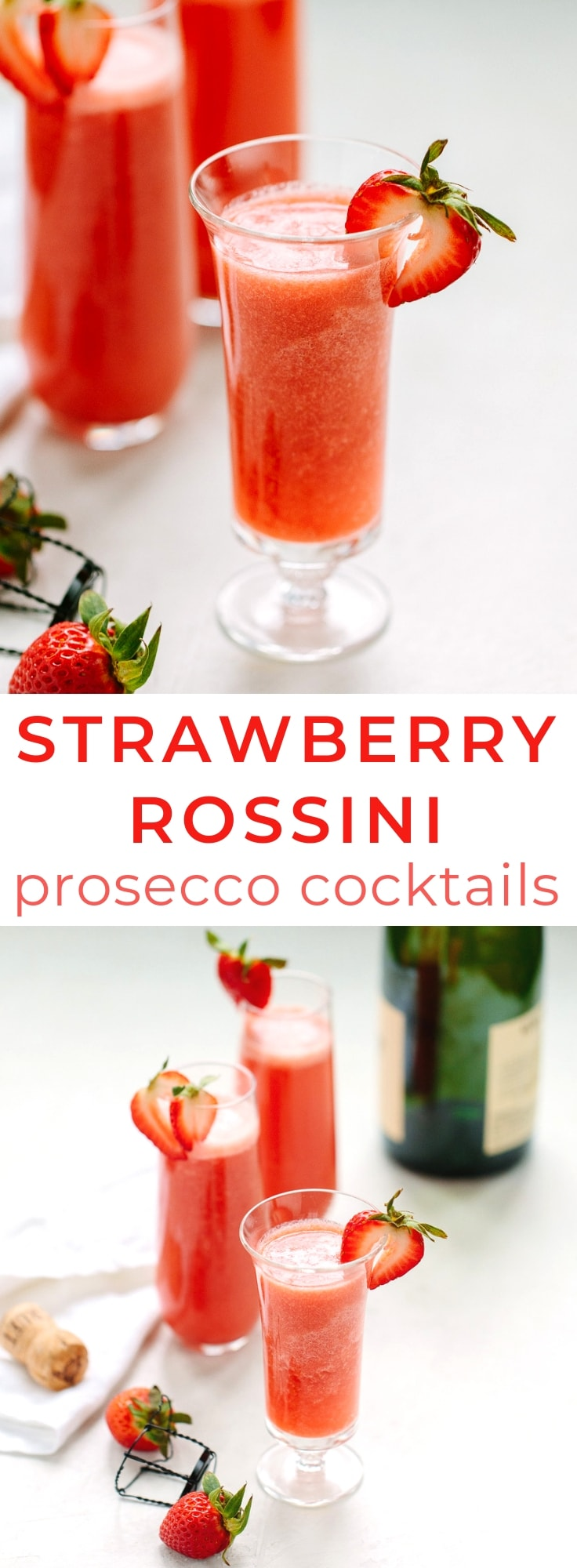 Strawberry Rossini Prosecco Cocktail