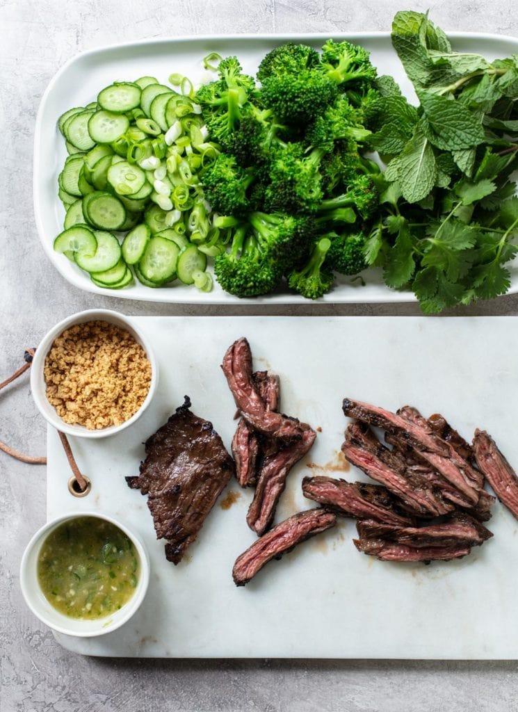 Thai Steak Salad with Rice Noodles