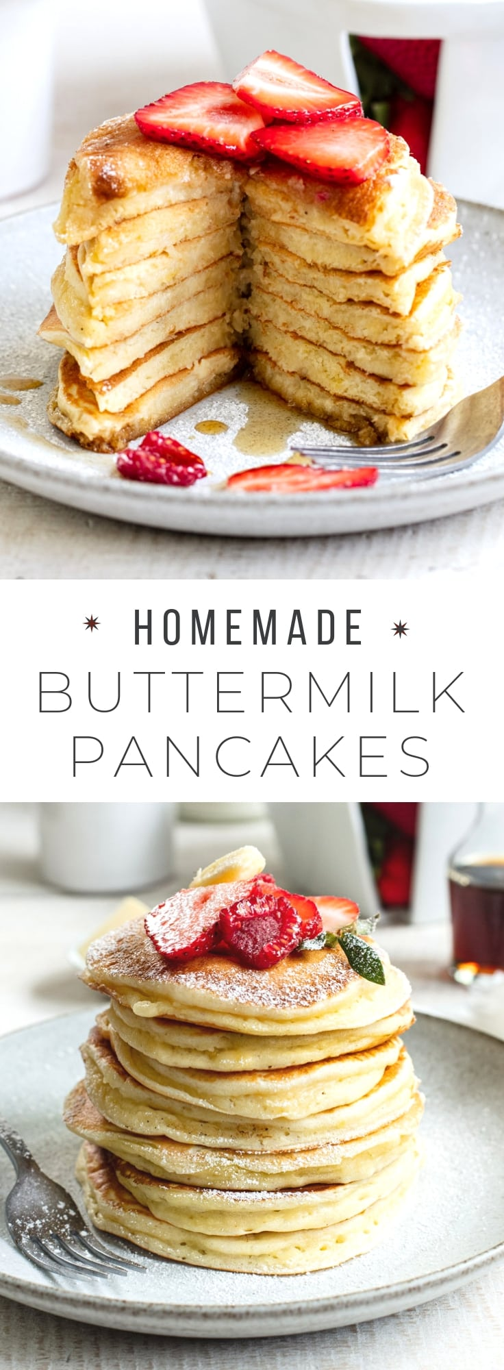 How to Make Fluffy Buttermilk Pancakes From Scratch