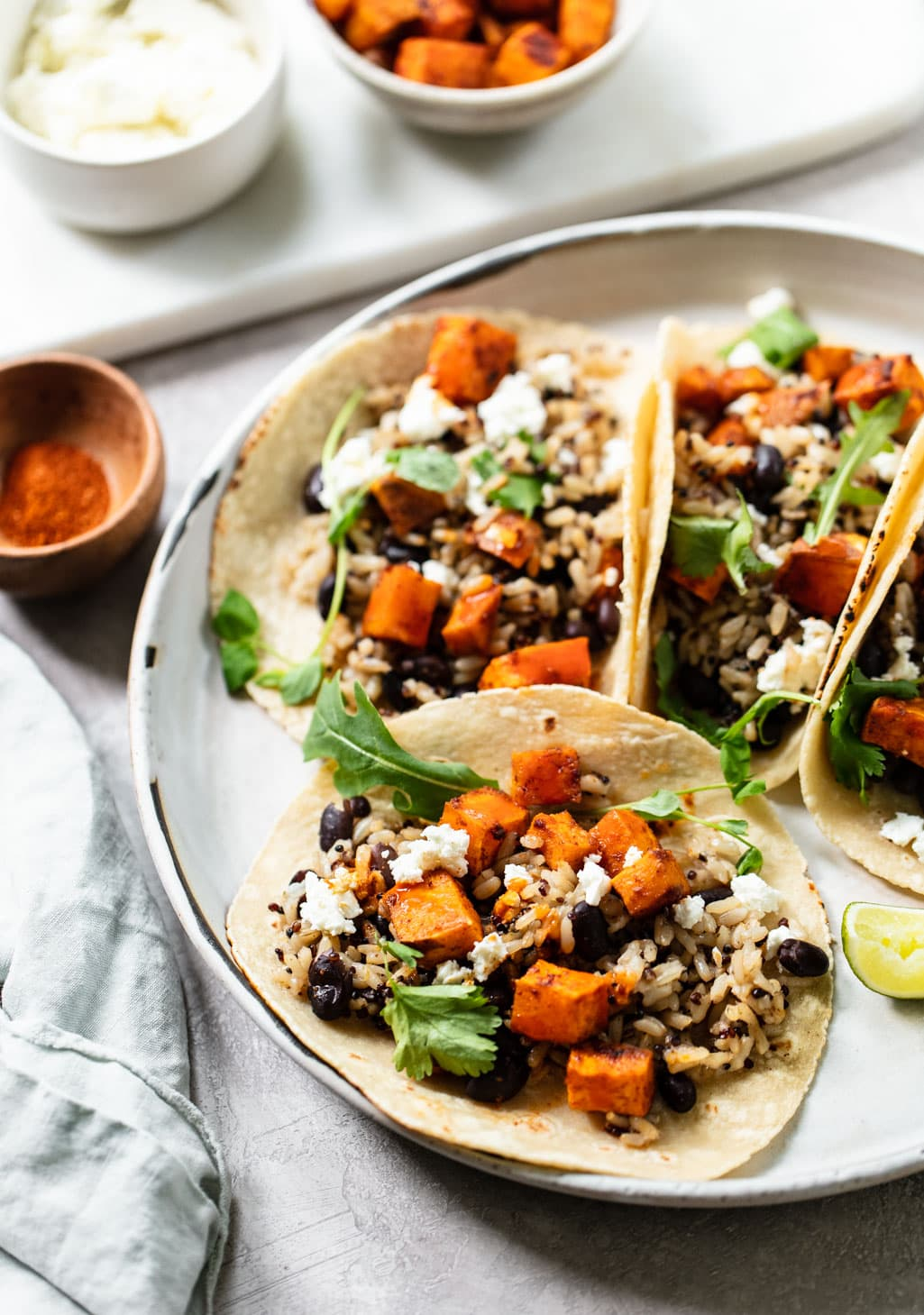 Chipotle Sweet Potato and Black Bean Tacos