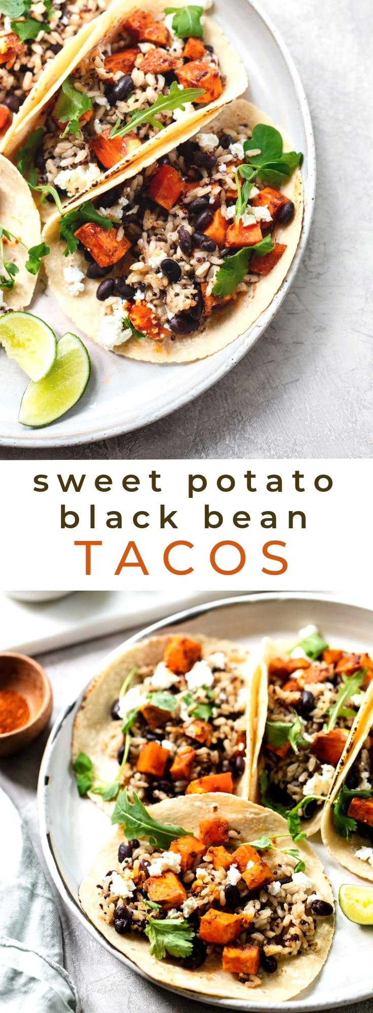 Chipotle Sweet Potato and Black Bean Tacos (Gluten-Free Vegetarian)