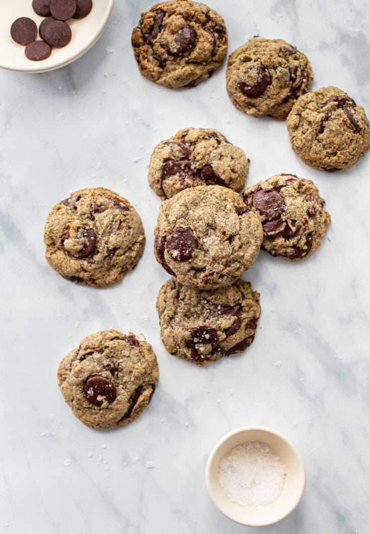 Salted Buckwheat Chocolate Chip Cookies