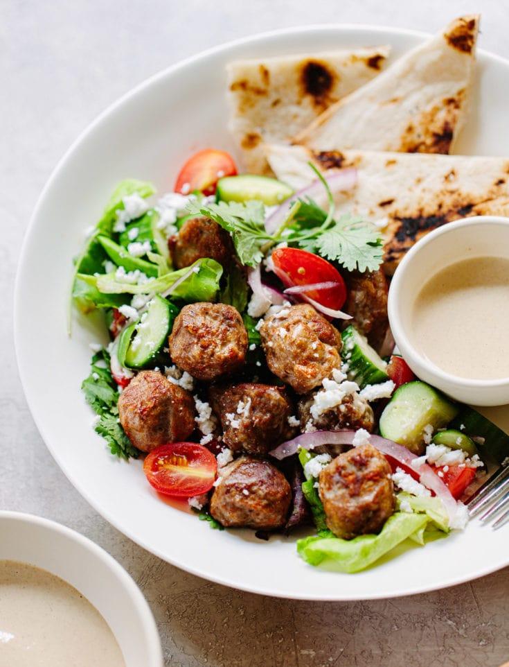 Chicken Gyro Meatball Salad