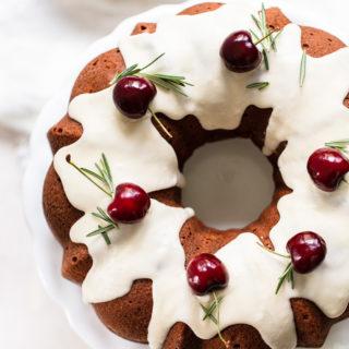 Cherry Olive Oil Bundt Cake