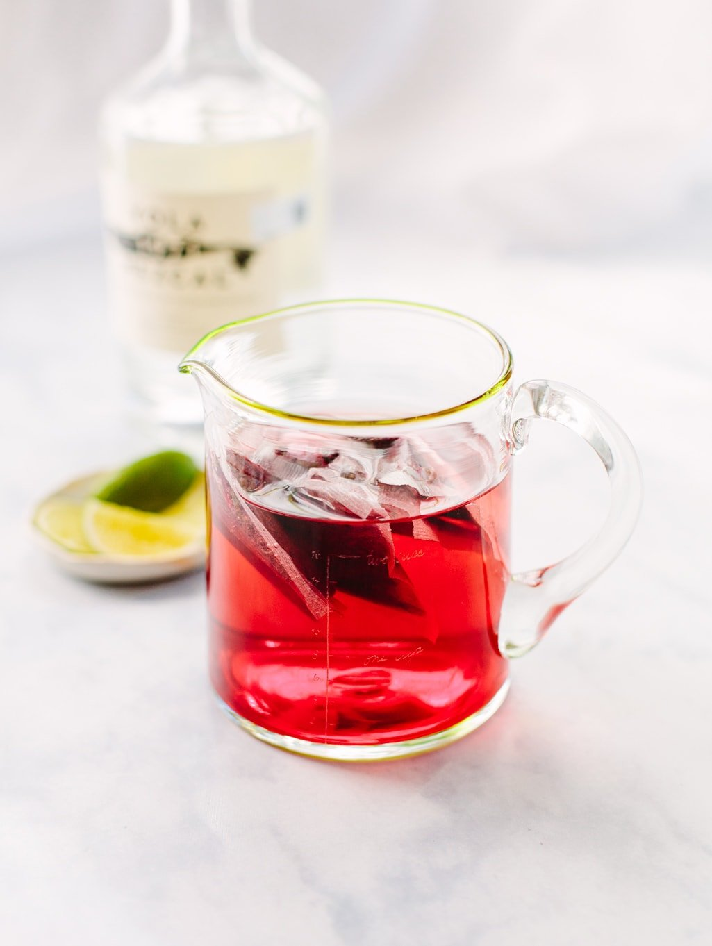 Red Zinger Tea Hibiscus Syrup for Mezcal Margaritas