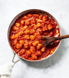 Cauliflower Gnocchi with Spicy Tomato Sauce
