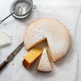 Easy Lemon Polenta Cake