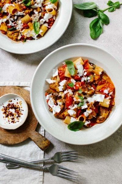 Pasta alla Norma - Spicy Tomato and Eggplant Pasta