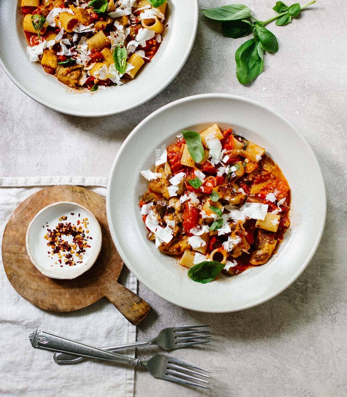 Pasta alla Norma – Spicy Tomato and Eggplant Pasta