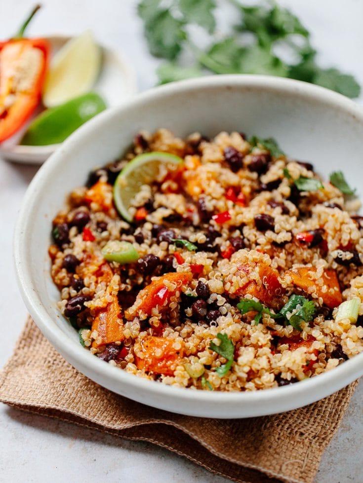 Quinoa Salad with Black Beans (Vegan + Gluten-Free)