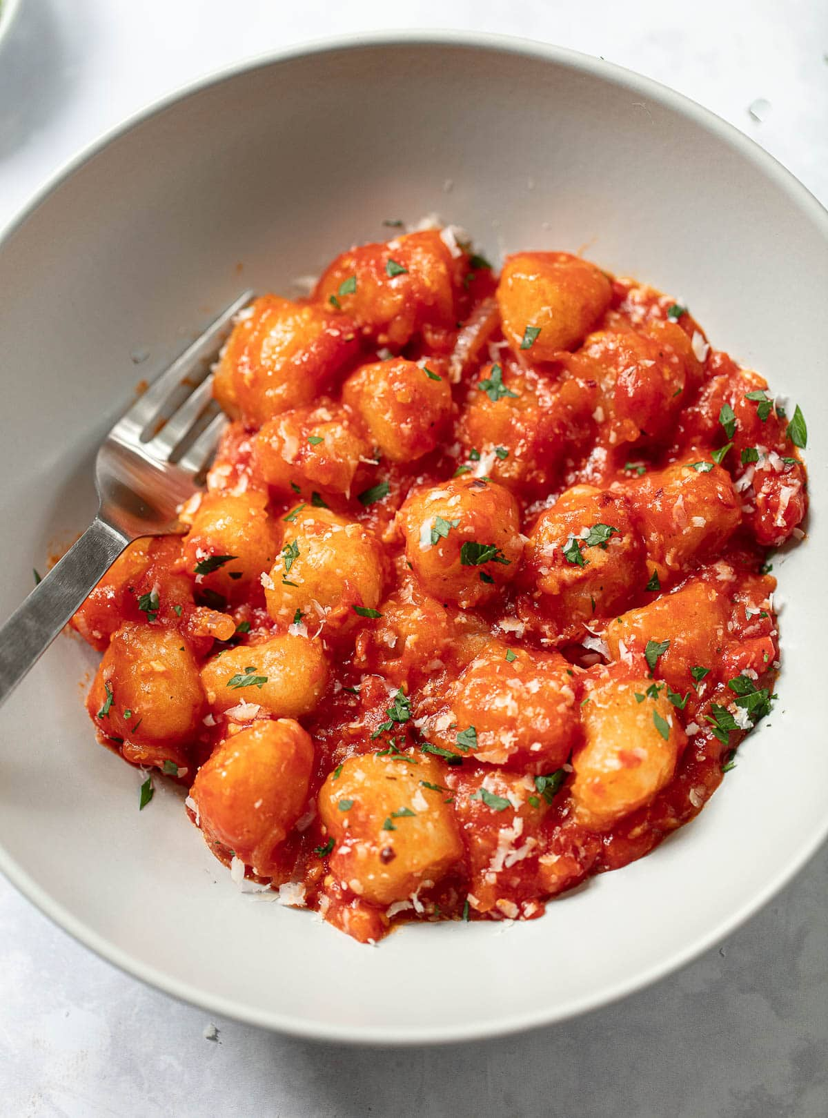 Quick and easy Cauliflower Gnocchi in Spicy Tomato Sauce
