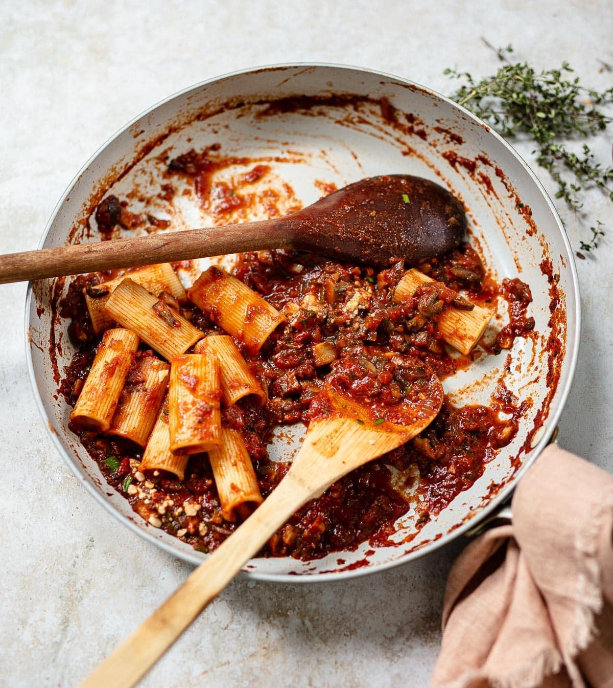 Mushroom Bolognese Pasta