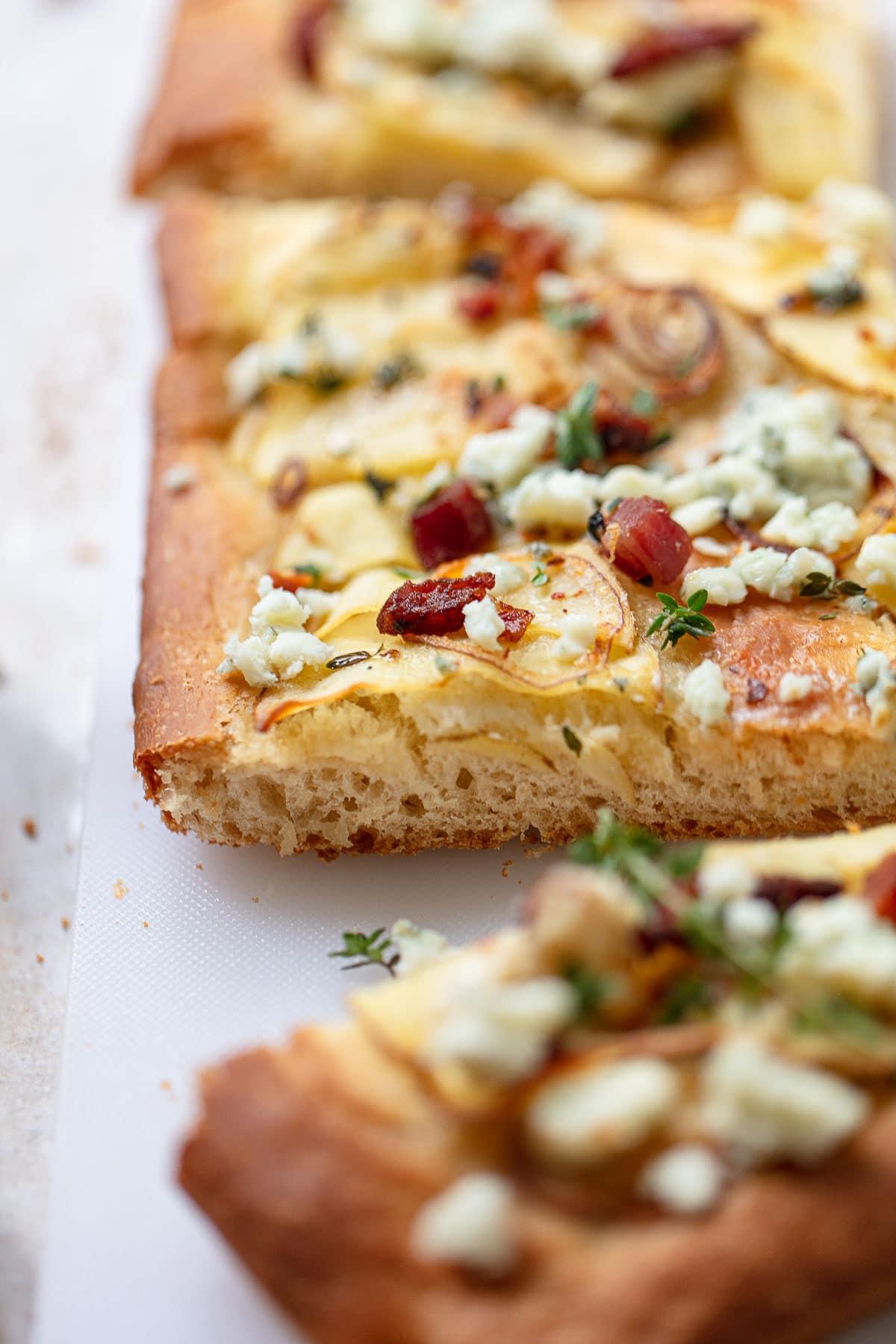 Potato Focaccia with Blue Cheese