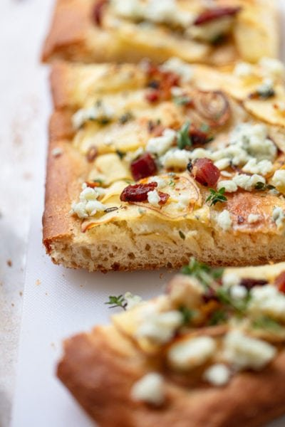 Potato Focaccia with Blue Cheese and Pancetta