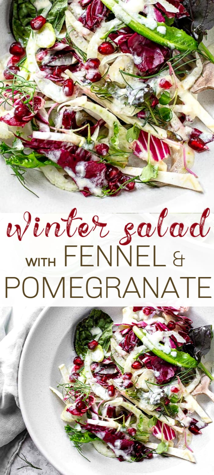 Winter Salad with Fennel and Pomegranate