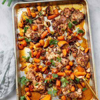 Sheet Pan Moroccan Orange Chicken