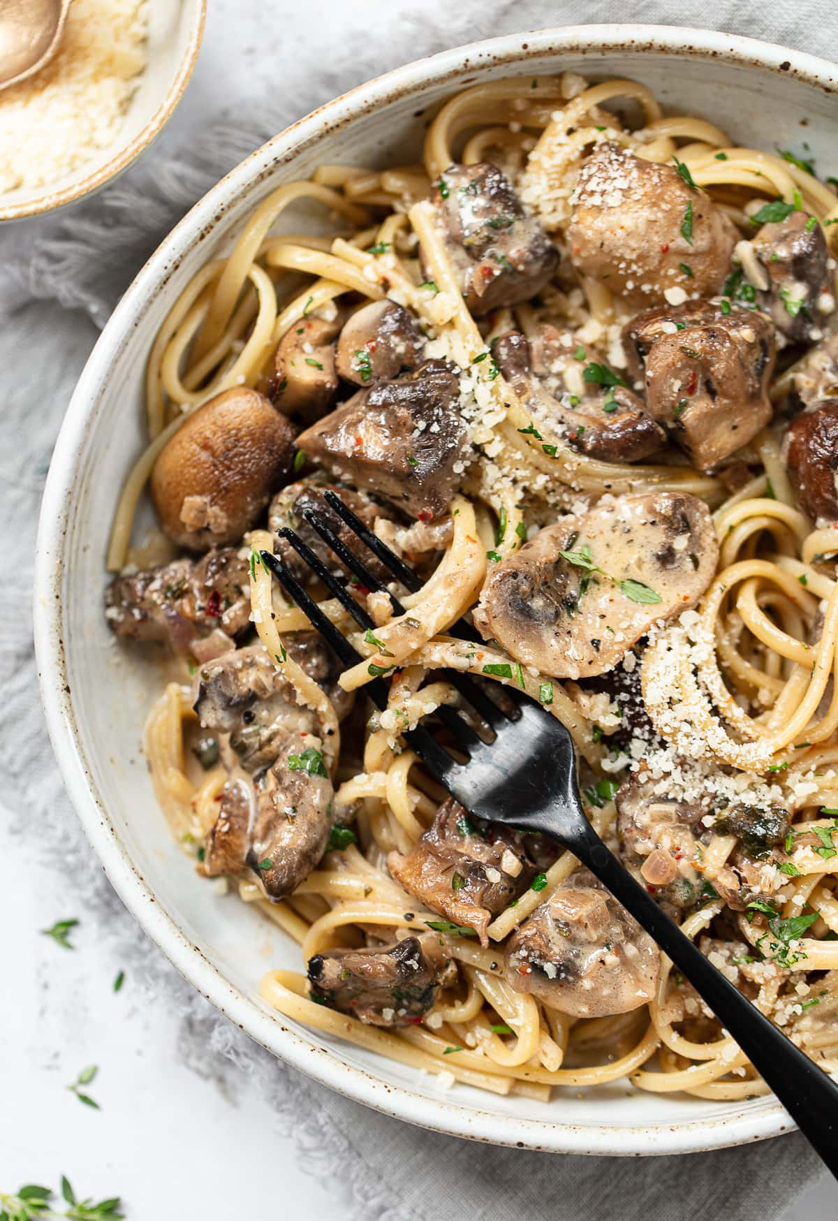 Pasta With Creamy Mushroom Sauce Familystyle Food