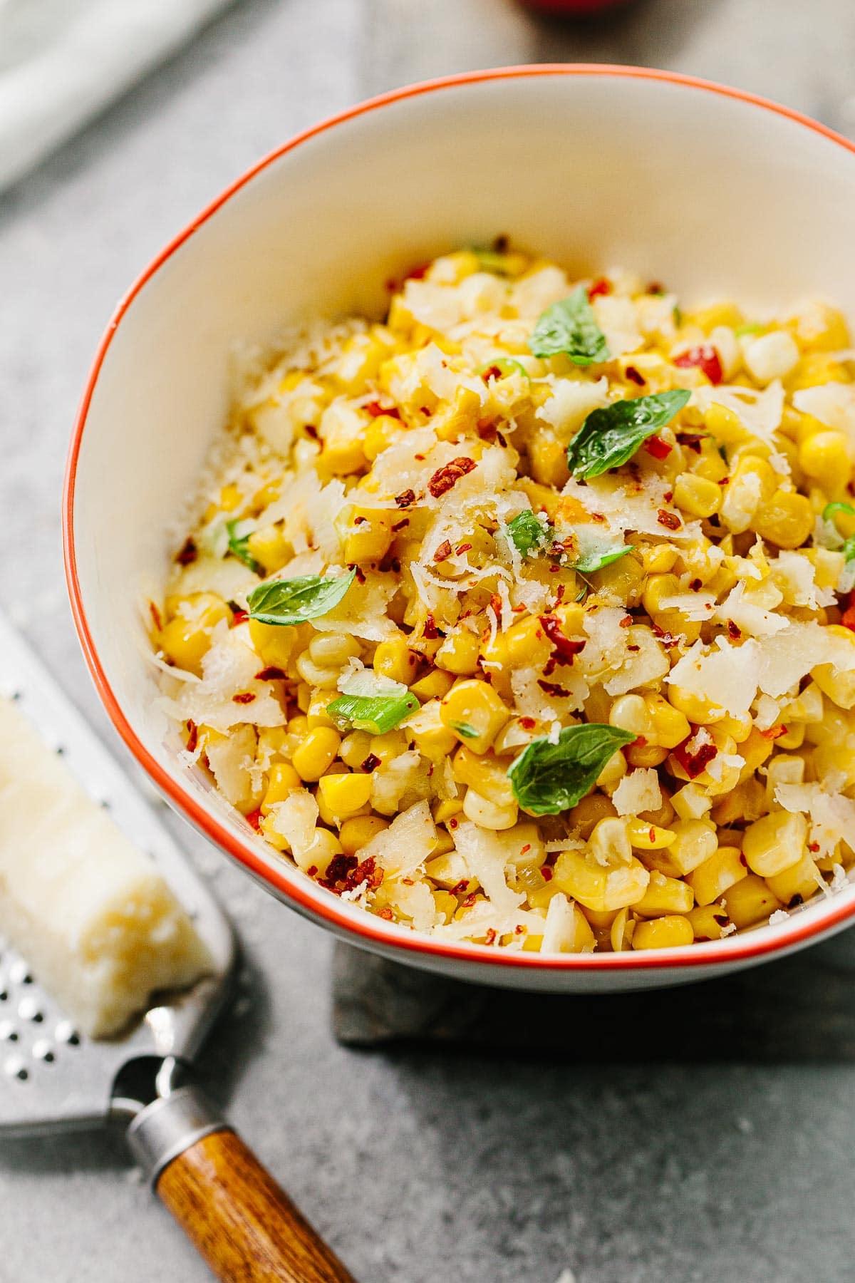 Sweet Corn Salad with Pecorino Cheese