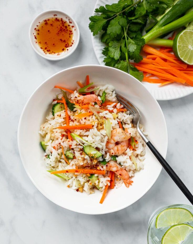 Vietnamese Shrimp and Rice Salad