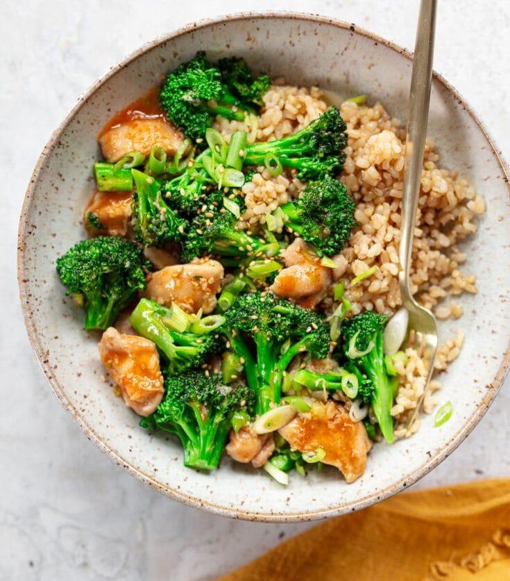 Spicy Sriracha Chicken and Broccoli