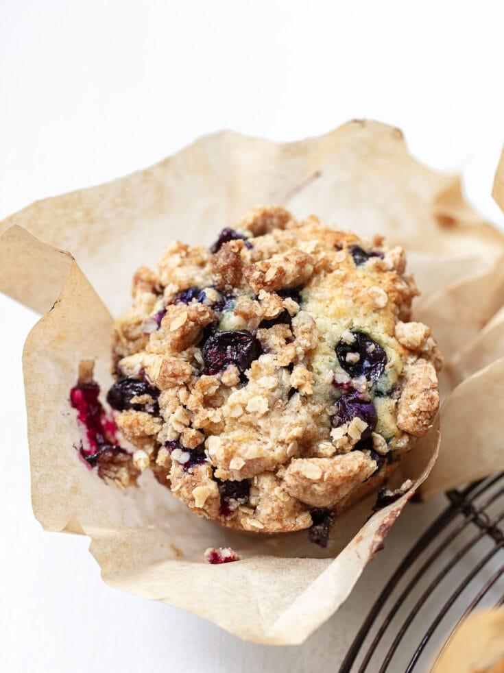 Big Blueberry Streusel Muffins