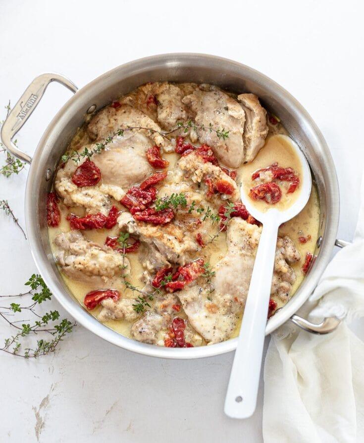 Chicken in White White Sauce (Vino Bianco)
