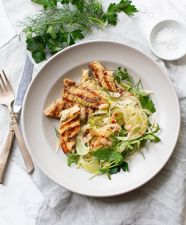 Buttermilk Chicken Breast with Fennel Salad