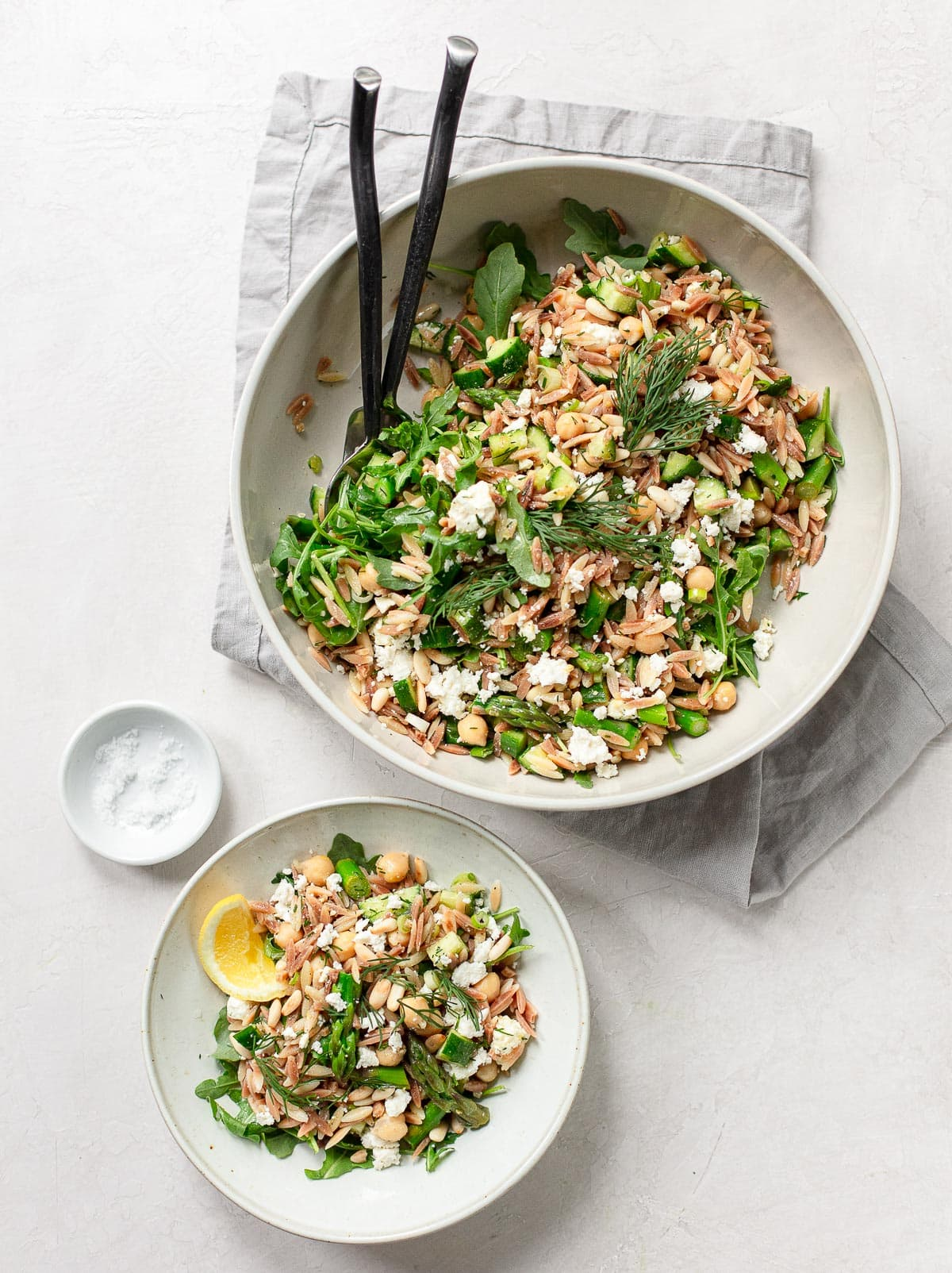 Toasted Orzo Salad with Asparagus, Lemon and Chickpeas