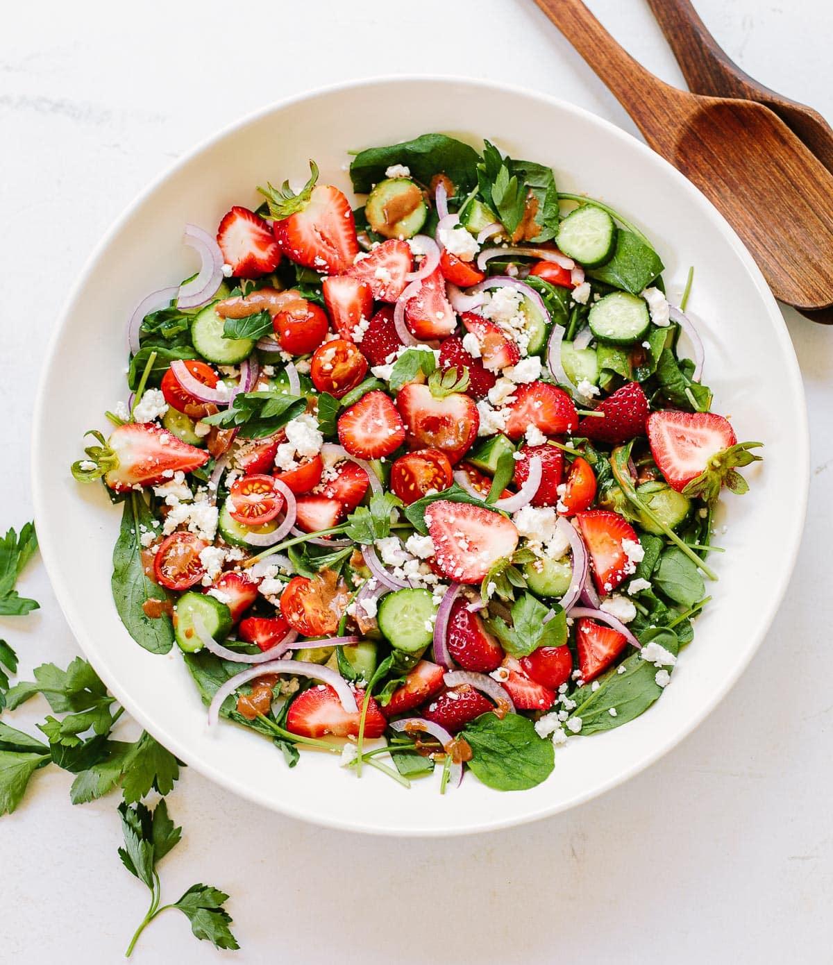 Summer Strawberry Salad with Feta
