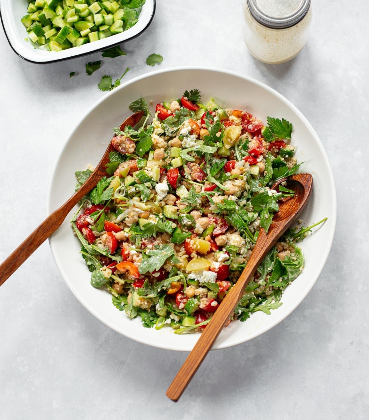 Mediterranean Vegetable Tabbouleh Salad