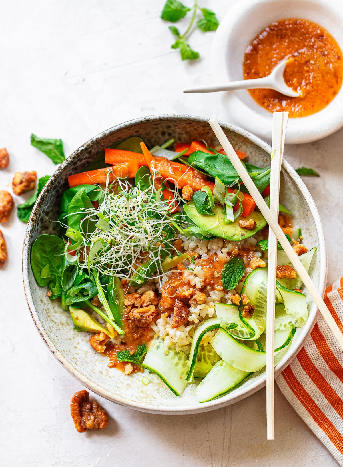 Sweet and Spicy Banh Mi Rice Bowl